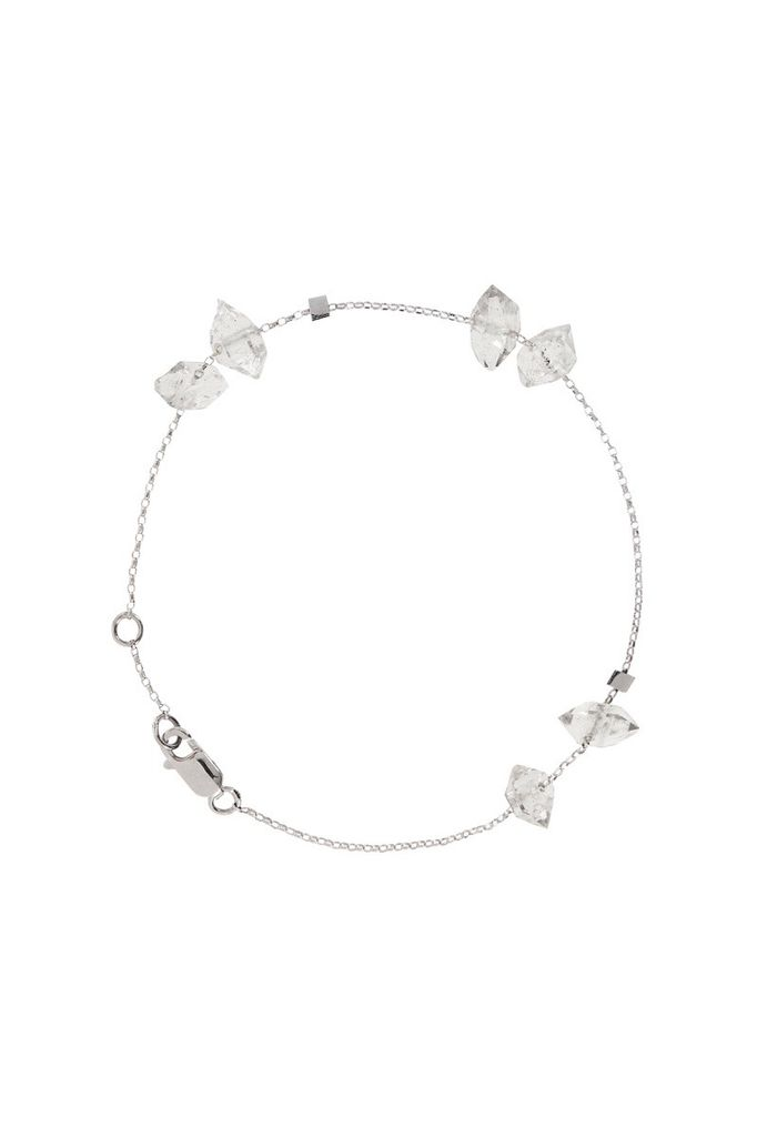 Olly Rose 6 Herkimer Diamond And 18ct White Gold Bracelet Australia