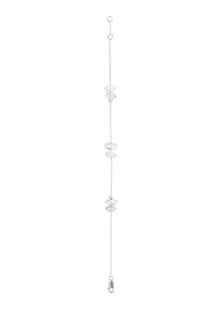 Olly & Rose - 6 Herkimer Diamond and 18ct White Gold Bracelet - Australia