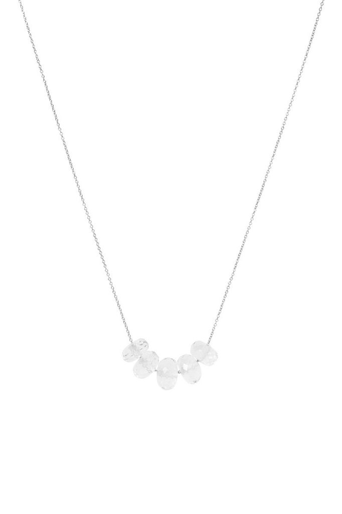 Olly & Rose - 6 Polished Herkimer Diamond and 18ct White Gold Necklace - Australia