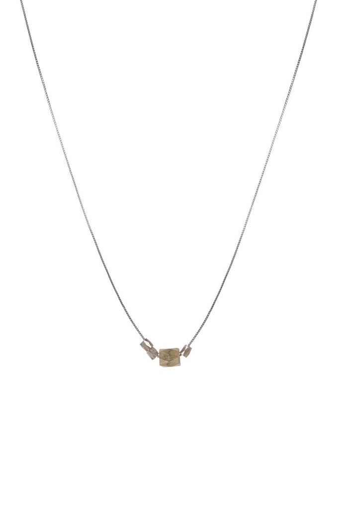 Olly & Rose - 4 Stone Diamond (1 large Cigar, 3 small unpolished) and 14ct White Gold Necklace - Australia