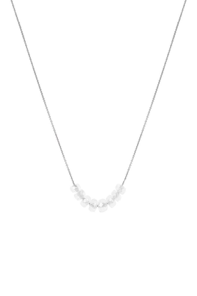 Olly Rose 5 Moonstone On 18ct White Gold Necklace Australia