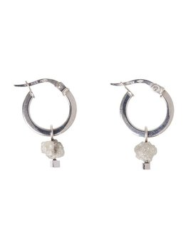 Olly & Rose - Rough Diamond and 18ct White Gold Earrings - Australia