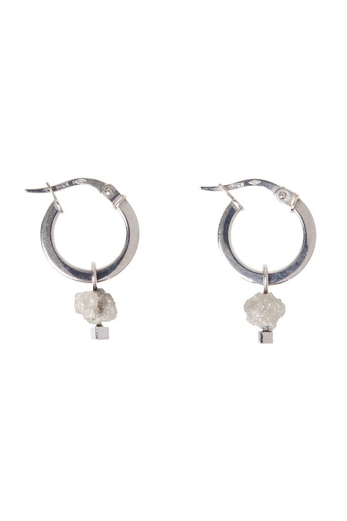 Olly Rose Rough Diamond And 18ct White Gold Earrings Australia