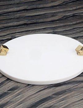 Kelly Wearstler Kelly Wearstler - Acolyte Entertaining Platter - White Calcacatta Marble