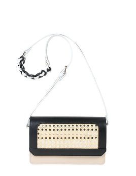 Sagan Sagan Vienna Cross Body Bag - Medium - Black and Beige