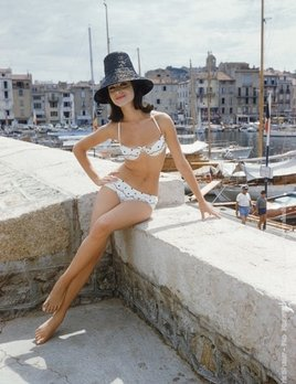 Mark Shaw Photography - Christine Mayer St. Tropez Boardwalk Bikini Black Hat