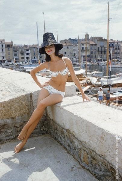 Mark Shaw Photography - Christine Mayer St. Tropez Boardwalk Bikini Black Hat