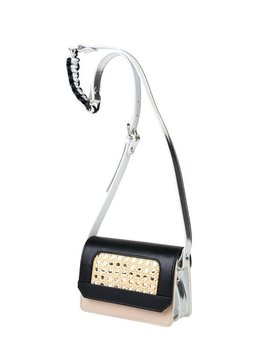 Sagan Sagan Vienna Cross Body Bag - Small - Black and Beige