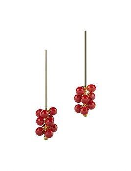 Ana Joao Ana Joao - Raspberry Earrings with Red Porcelain