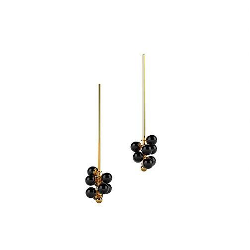 Ana Joao Ana Joao - Blackberry Earrings with Onyx