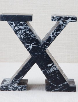 Kelly Wearstler Kelly Wearstler - Marble Letter X - Negro Marquina Marble