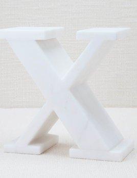 Kelly Wearstler Kelly Wearstler - Marble Letter X - White Calacatta Marble