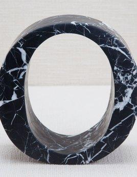 Kelly Wearstler Kelly Wearstler - Marble Letter O - Negro Marquina Marble