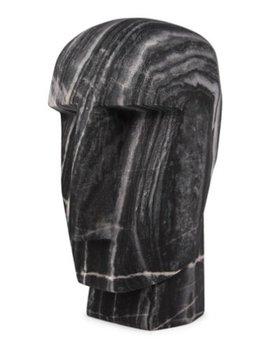 Kelly Wearstler Kelly Wearstler - Little Head Trip Sculpture - Grey Rainbow Marble - 8x9x15cm