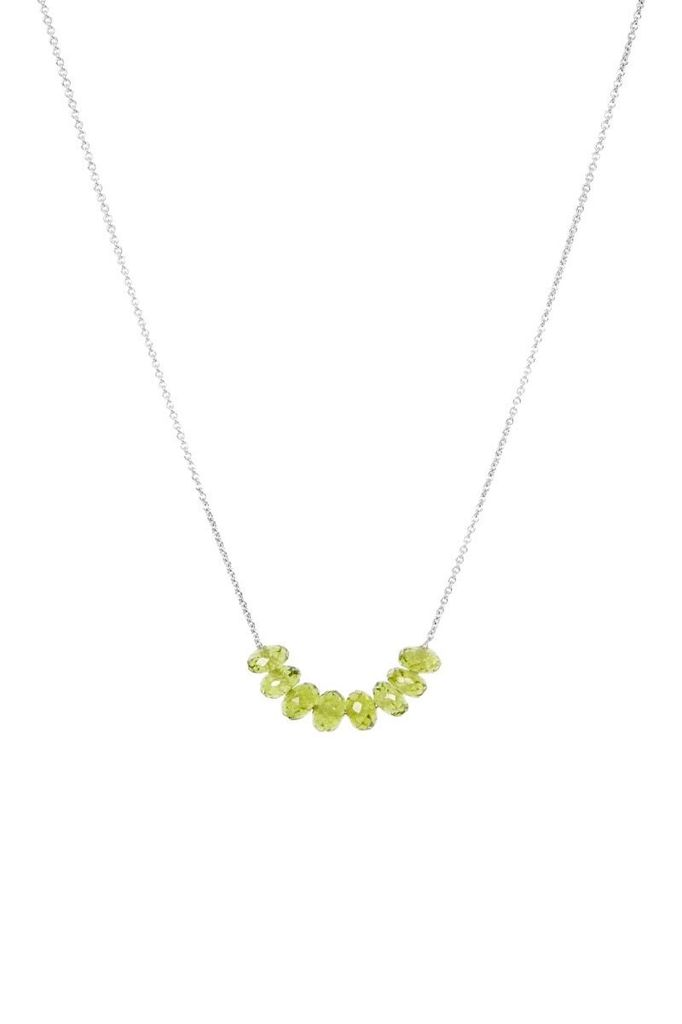 Olly Rose Seven Stone Peridot And 18ct White Gold Necklace Australia