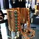 Sylvia Toledano Sylvia Toledano - Gypsy Cuff - 18ct Gold Plated Brass with Turquoise Stones - Paris