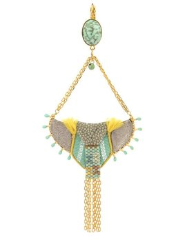 Satellite Fashion Sleeper Earrings with Shagreen - Turquoise - 14ct gold plated - Paris