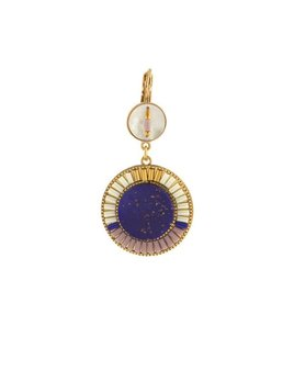 Satellite Original Earrings - Lapis - 14ct gold plated - Paris