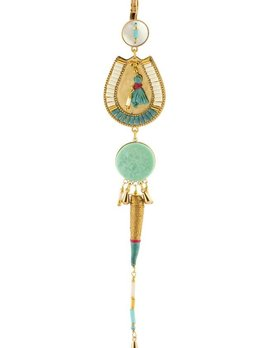 Satellite Ethnic Sleeper Earrings - Turquoise - 14ct gold plated - Paris