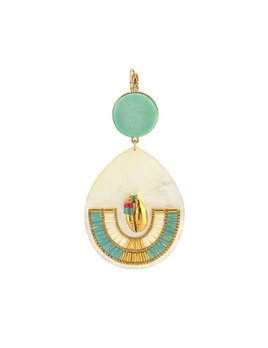 Satellite Summery Sleeper Earrings - Turquoise - 14ct gold plated - Paris