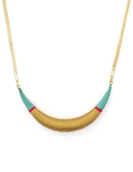 Satellite Original Necklace - Turquoise - 14ct gold plated - Paris