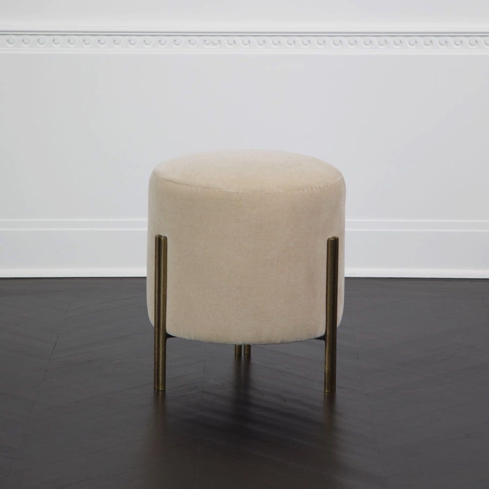 Kelly Wearstler Kelly Wearstler - Melange Stool in the Nevada Bone Fabric