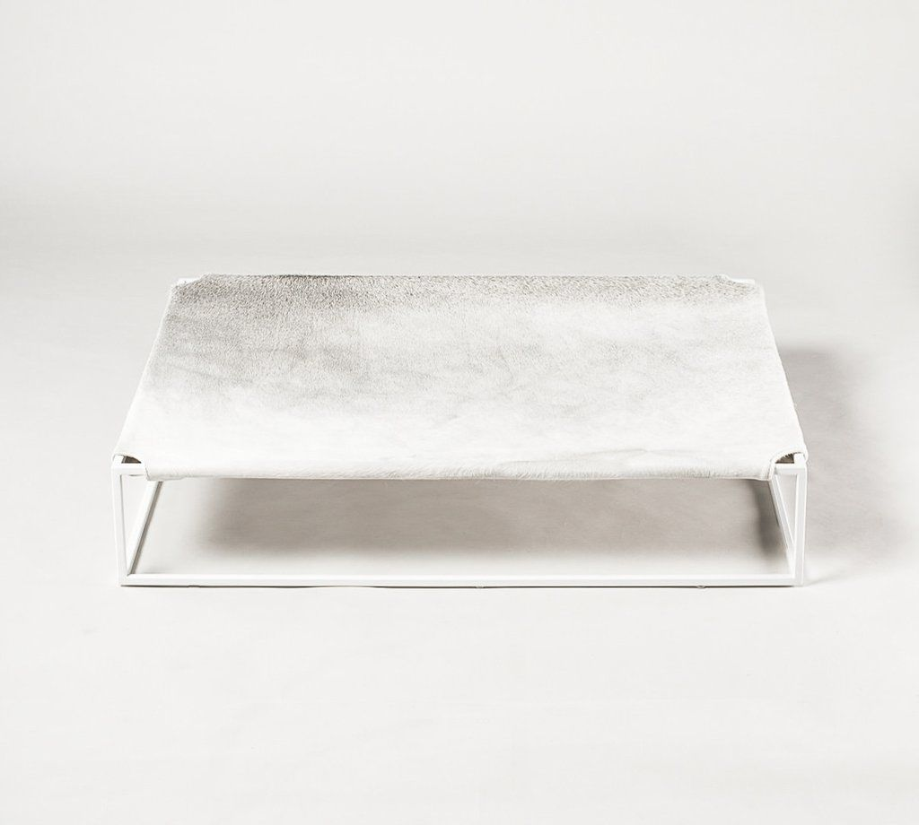 Angus Dog Bed by Arvin Grex - Grey Cowhide