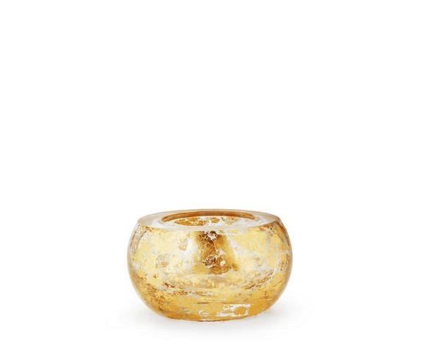 AERIN - Small Flecked Gold Crystal Bowl