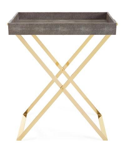 Aerin AERIN - Brass Butler Tray Stand  72x46x66cm