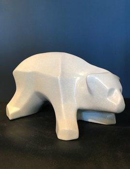 fdc FDC - Polar Bear - Crackle Glaze Ceramic - Off White - H22cm
