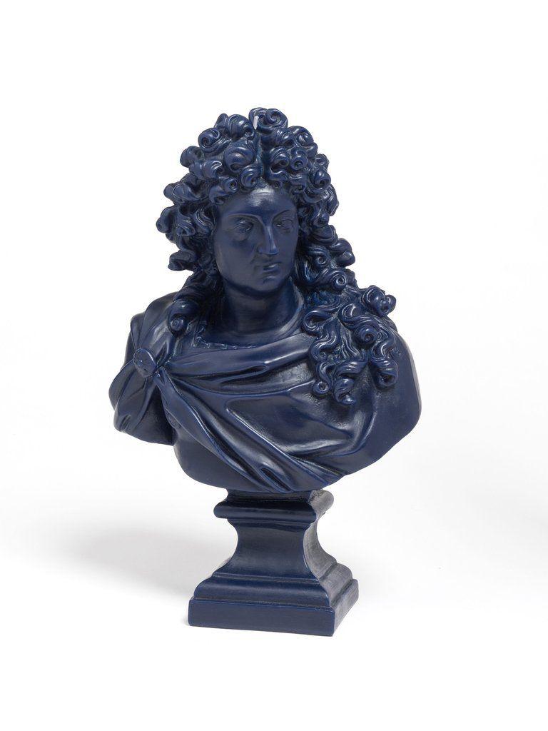 Cire Trudon Buste - Buste Louis XIV -  Dark Navy Blue - H35cm