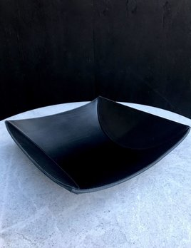 B.Home Interiors Rabitti - Lambda Large Bowl - Black Saddle Leather - 34x33x9cm