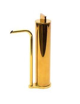 """gentner Gentner Design - Oil Decanter 2 - Polished Tarnish Brass - dia 2.5"""" x 8.75"""" x 4"""""""