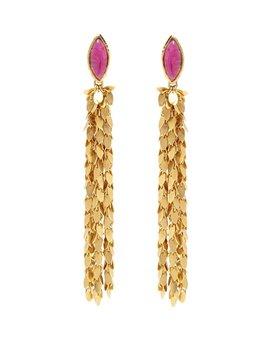 Sylvia Toledano Leaves Earrings by Sylvia Toledano - Ruby