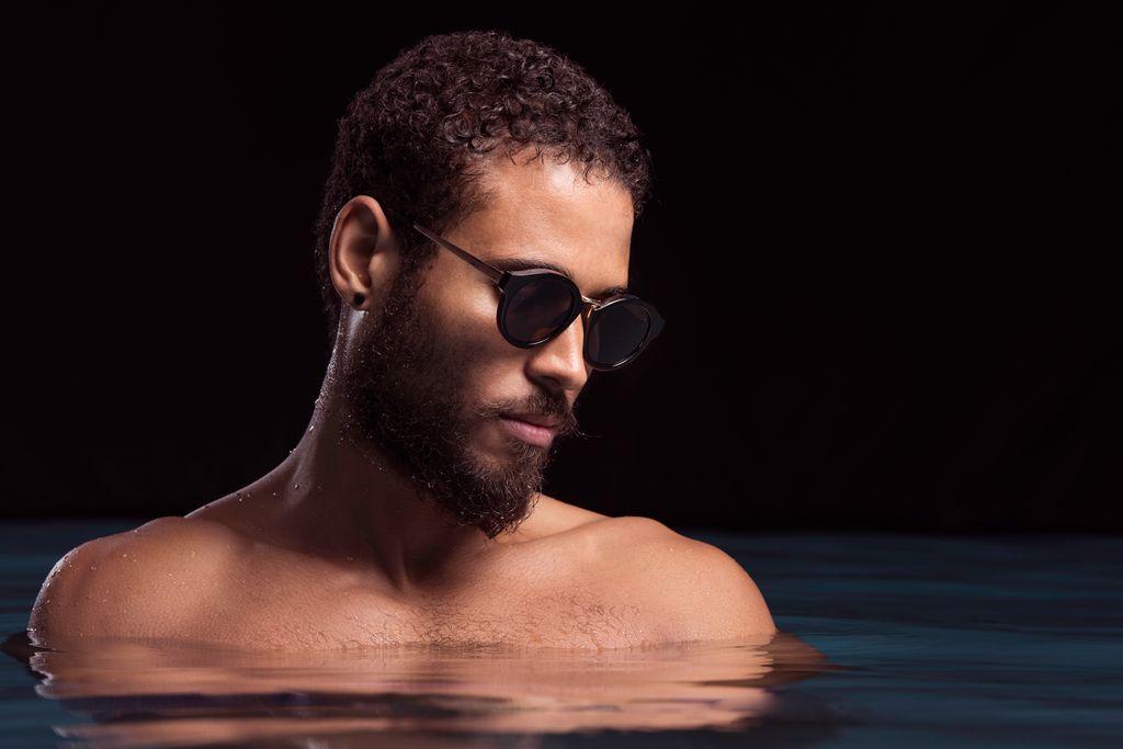 Nick Campbell Eyewear - Miki Sunglasses - Black with Dark Frames