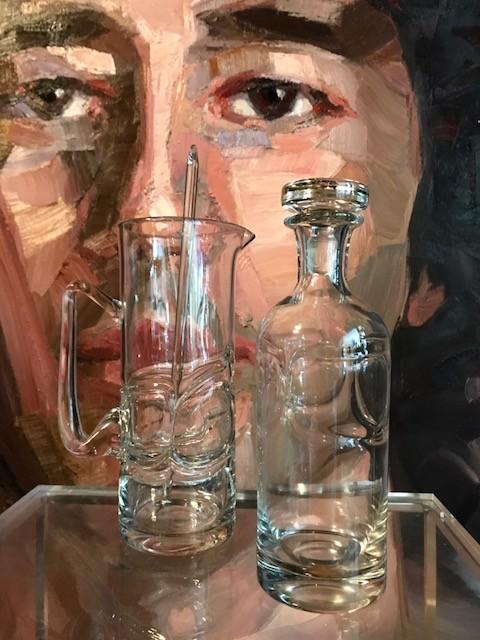 B.M.V.A. Vintage Glassware - Jug, Decanter and Stirer c1970