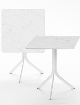 Retegui Marble - Square Bistro Table - H750mm - Various Marble Options Available