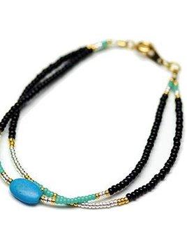 Danielle Shukur Danielle Shukur for Becker Minty - Turquoise Double Bracelet
