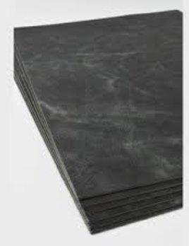 Michael Verheyden Michael Verheyden - Placemat - Desk Blotter - Black leather - 70x50cm - Belgium