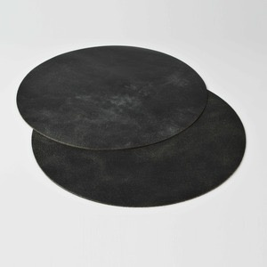 Michael Verheyden Michael Verheyden - XL Placemat - Large Round - Black Leather - 75cm - Belgium
