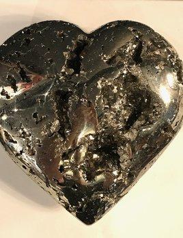 XL Pyrite Heart 21cm