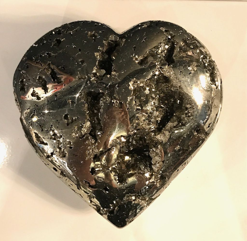 XL Pyrite Heart - 21cm