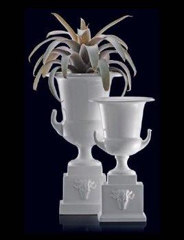 Home Ceramic Mediceo Vase / Urn - Medium - Gloss White (RHS Urn)