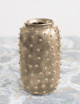 Kelly Wearstler Kelly Wearstler - Studded Vase  - Burnished Brass