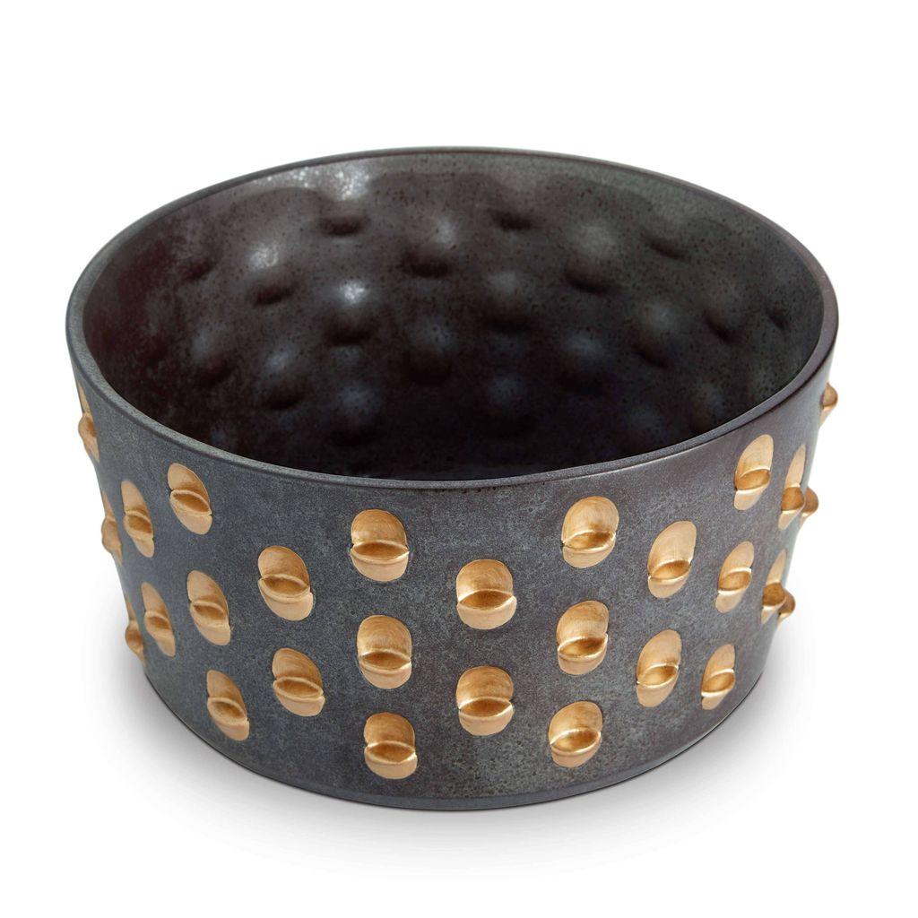 L'Objet L'Objet - Coba Bowl - Medium - Aged Bronze/Gold - 25 D x 13 H cm