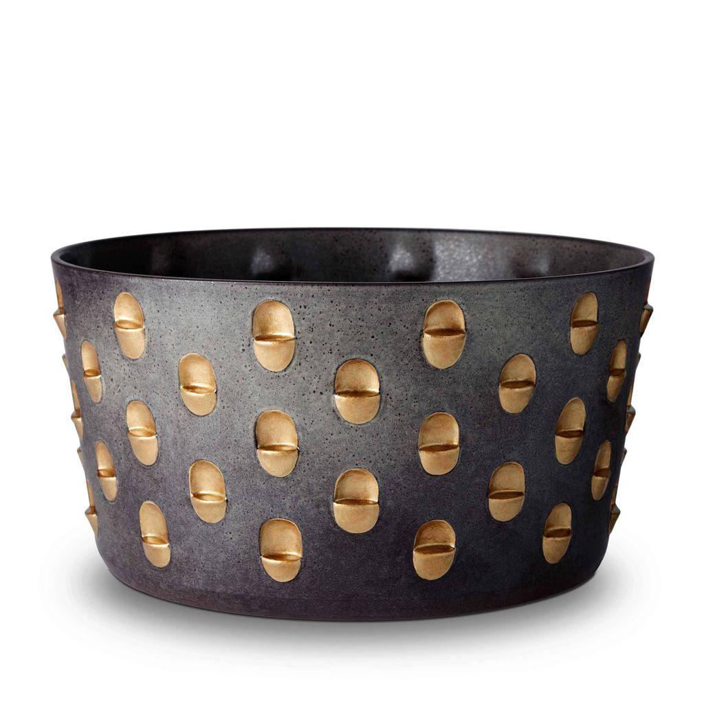 L'Objet L'Objet - Coba Bowl - Large - Aged Bronze/Gold - 34 D x 18 H cm