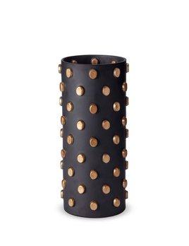 L'Objet L'Objet - Teo Vase - Large - Black/Gold - 17 D x 37 H cm