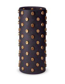 L'Objet L'Objet - Teo Vase - Extra Large - Black/Gold - 23 D x 50 H cm