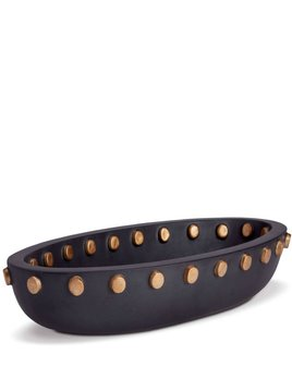 L'Objet L'Objet - Teo Oval Serving Bowl - Large - Black/Gold - 46 L x 23 W x 10 H cm