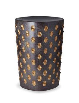 L'Objet L'Objet - Coba Stool - Aged Bronze/Gold - 32 D x 46 H cm